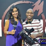 SIDEWALKS host Veronica Castro and videographer J.P. Langston at the red carpet for Metallica Through The Never.