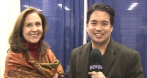 Erin Gray with host Richard R. Lee
