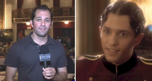 "Michael Aron today (left) and his 1992 guest role in ""Star Trek: The Next Generation"""