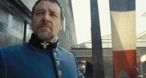 """Oscar® winner RUSSELL CROWE as Javert in """"Les Misérables.""""  Photo: Universal Pictures. Copyright: © 2012 Universal Studios. ALL RIGHTS RESERVED."""