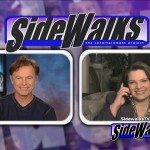 Bruce Greenwood and host Cindy Rhodes