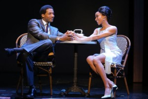 """Clifton Oliver as Berry Gordy and Allison Semmes as Diana Ross in """"Motown: The Musical."""" Photo: Joan Marcus."""