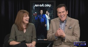 Lucy Lawless and Bruce Campbell