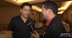 Garrett Wang with SIDEWALKS host Richard R. Lee
