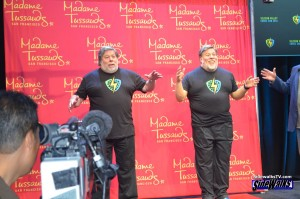 Steve Wozniak and his wax figure from Madame Tussauds Wax Museum