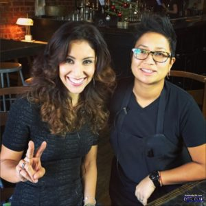 Host Veronica Castro and chef Janice Dulce