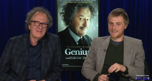 Geoffrey Rush and Johnny Flynn (Genius)