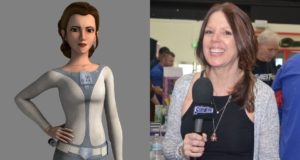 Princess Leia and Julie Dolan