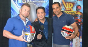 Brad Hawkins and Mike Hollander of VR Troopers with host Richard R. Lee