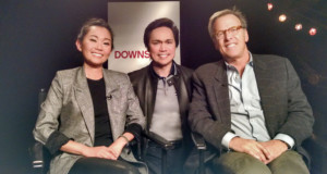 Hong Chau and Mark Johnson with Beau Behan (center)