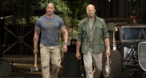 "Scene from (from left) Luke Hobbs (Dwayne Johnson) and Deckard Shaw (Jason Statham) in ""Fast & Furious Presents: Hobbs & Shaw"