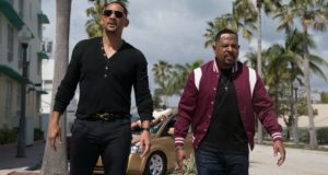 """The two stars -- WILL SMITH and MARTIN LAWRENCE -- in a scene from their film, """"Bad Boys For Life"""""""