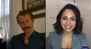 James Badge Dale and Monica Raymund are interviewed on Sidewalks Entertainment